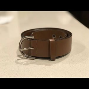 Coach Leather Belt with Silver Buckle